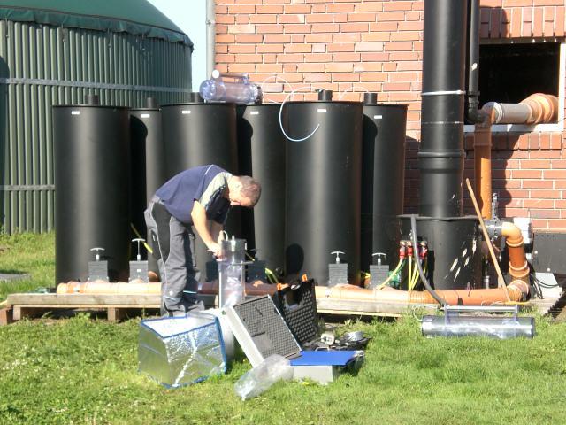 Betriebsversuch Biogasanlage, Probenahme Olfaktometrische Messung